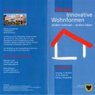 Forum Innovative Wohnformen – das Amt für Wohnungswesen bietet Infoveranstaltung an!